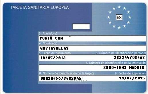 1 Tarjeta Sanitaria Europea