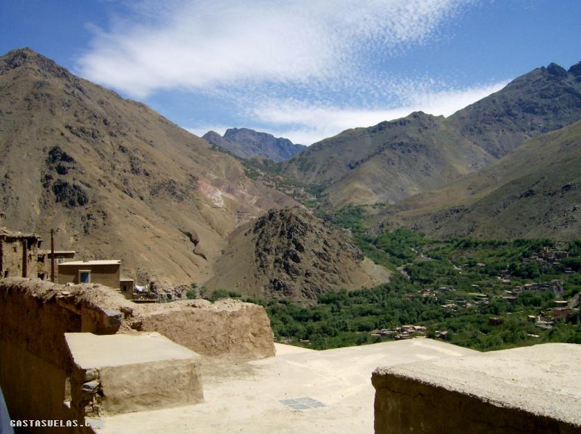 Toubkal - Vista del Valle desde Imlil