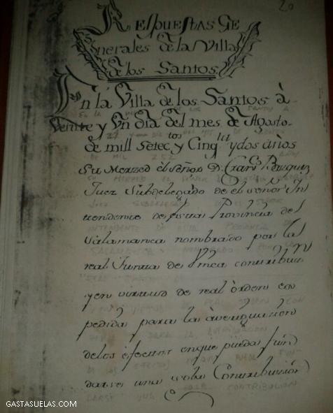 Documentos fundacionales de Los Santos (Salamanca)