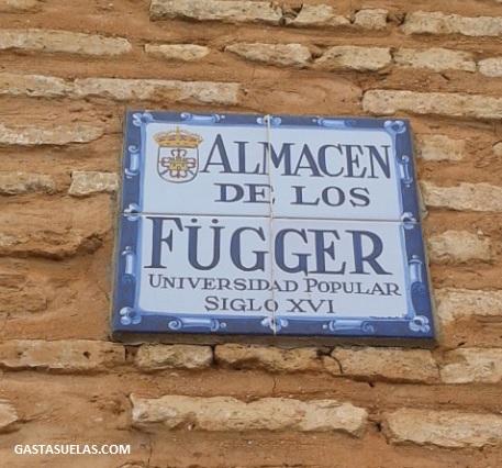 Placa en el Almacén de los Fúcares (Almagro)