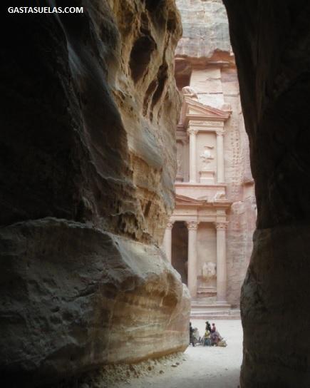 Final de As-Siq en Petra (Jordania)