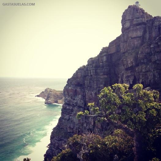 Vista de los acantilados de Cape Point (Sudáfrica)