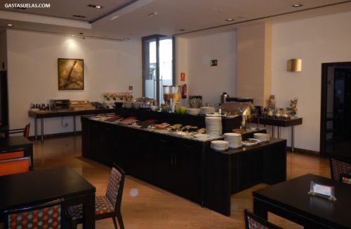 Desayuno buffet en el Gran Hotel Don Manuel (Cáceres)