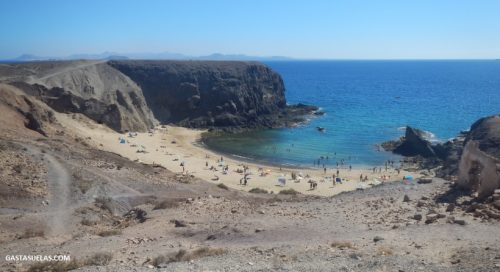 Playa Papagayo en Lanzarote (Canarias)