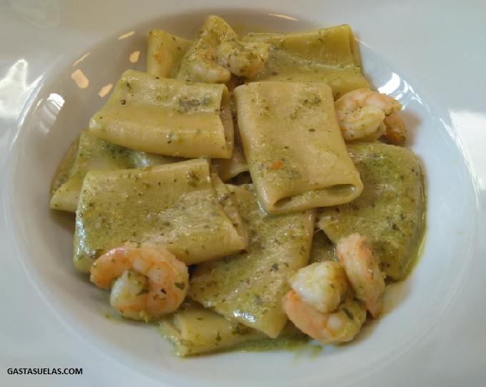 Plato de pasta italiana