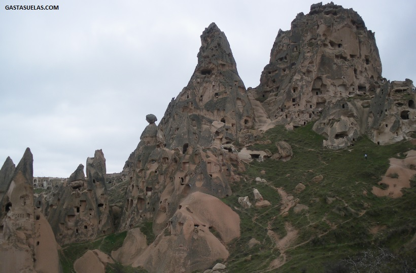 Castillo de Uçhisar en Capadocia (Turquía)