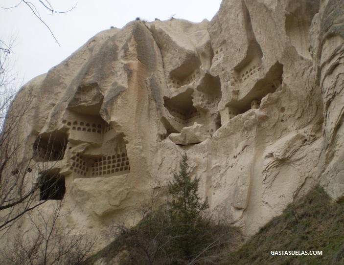 Antiguos palomares en Capadocia (Turquía)