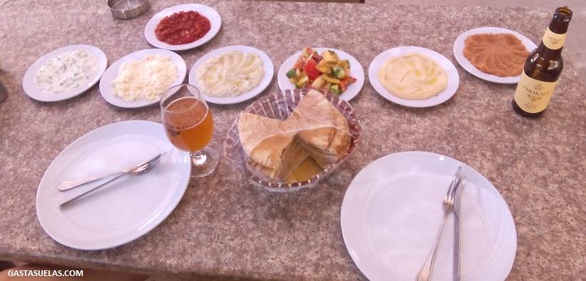 Comida en el campamento de Wadi Rum (Jordania)