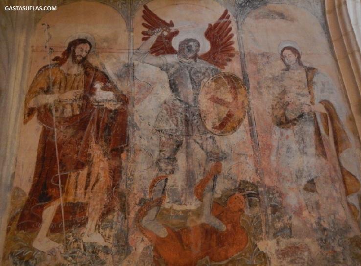 Mural en la Colegiata de Santa María la Mayor (Alquezar)