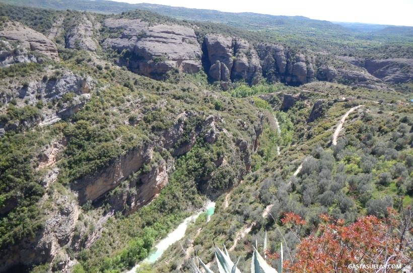 Vistas sobre el cañón del río Vero en Alquezar (Huesca)