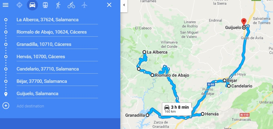 Segundo tramo de la ruta circula (Google Maps)