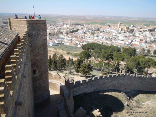 Vistas de Belmonte (Cuenca) desde el Castillo