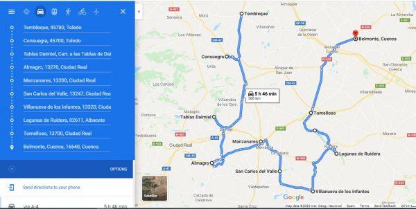ruta por Castilla-La Mancha)