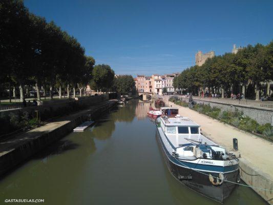 Canal de la Robine y Puente de los Comerciantes (Narbona)
