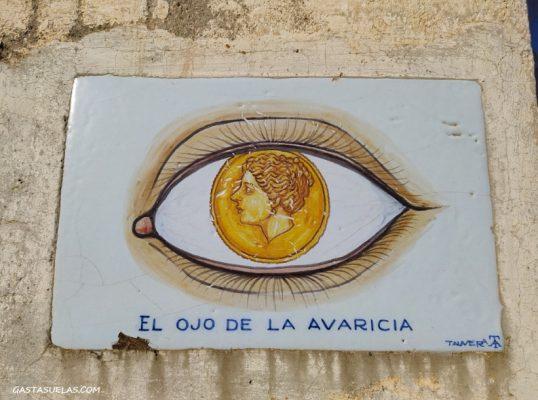 El ojo de la Avaricia en el Monumento a los Ojos (Ambite)