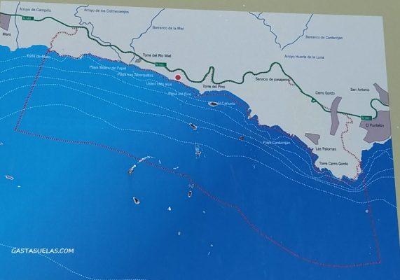 Extensión del Paraje Natural de los Acantilados de Maro-Cerro Gordo en Nerja (Málaga)